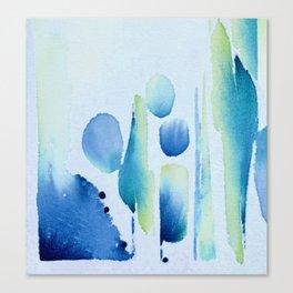 Watercolour tumbles in blue Canvas Print