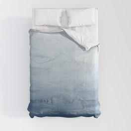 Indigo Abstract Painting   No. 4 Comforters