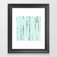 Abstract Marks Mint Framed Art Print