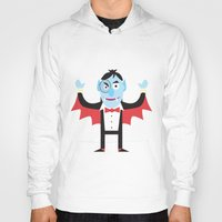 dracula Hoodies featuring Dracula by Joe Pugilist Design
