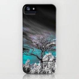 Teal Skies Infared iPhone Case