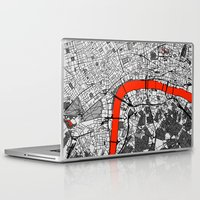london map Laptop & iPad Skins featuring London Map by Dizzy Moments