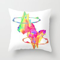 atlas Throw Pillows featuring ATLAS by DIZYGOTIK