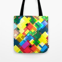 maps Tote Bags featuring Maps by Tony Vazquez