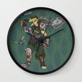 Cyber Hero of Time Wall Clock