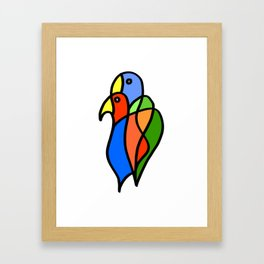 Two Colored Birds Framed Art Print