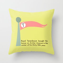 The Tenenbaums flag pennant Throw Pillow