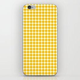 Cream Yellow and Amber Orange Diamonds iPhone Skin