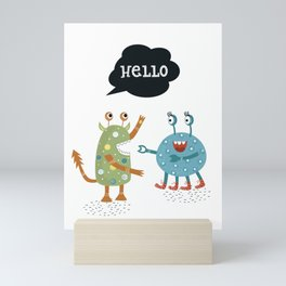 HELLO Mini Art Print