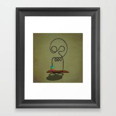 skull game Framed Art Print