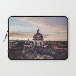 Belltower of church in Granada, Nicaragua at sunset Laptop Sleeve