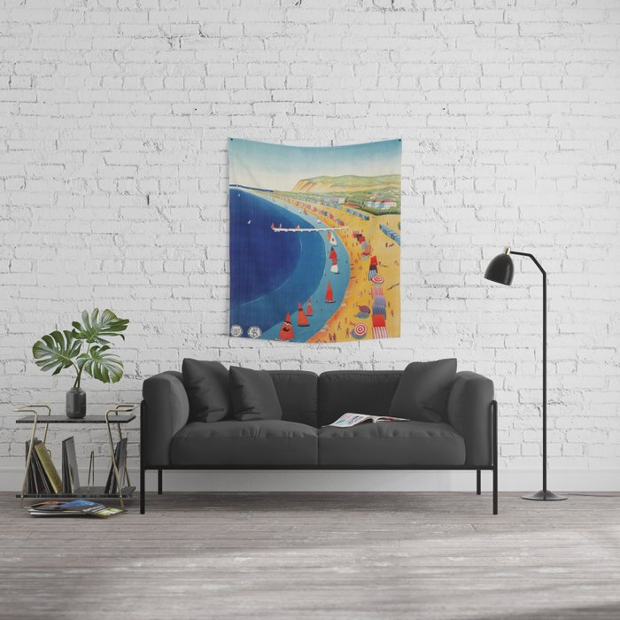 Cattolica 1920s Italy travel Wall Tapestry