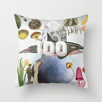 the 100 Throw Pillows featuring 100 by amit sakal