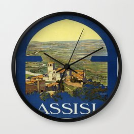 Vintage poster - Assisi Wall Clock