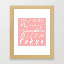Fashion Capitals of the World - Coral Framed Art Print