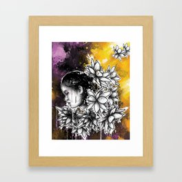 Above The Turmoil Framed Art Print