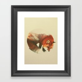 Snow Fox Framed Art Print