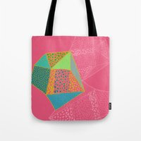 diamonds Tote Bags featuring Diamonds by Sandra Arduini