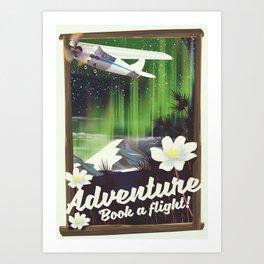 Adventure Book a Flight! Art Print