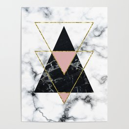 Geo glam marble Poster