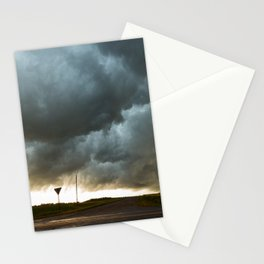 Storm Cloud Over Country Road Stationery Cards