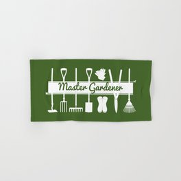 Master Gardener Simple Modern Forest Green Hand & Bath Towel