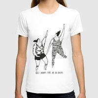 be happy T-shirts featuring happy by mariana, a miserável(the miserable one)