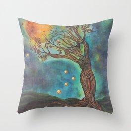 Goddess Bridget Surrealist Acrylic Painting Throw Pillow