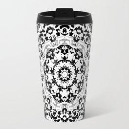 Shades Of Gray Mandala Travel Mug
