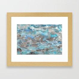 Blues, Grays and Sparkles Framed Art Print
