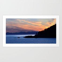 Alaska lighthouse panorama Art Print