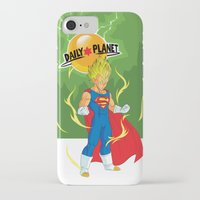 vegeta iPhone & iPod Cases featuring SUPER VEGETA / DAILY PLANET by Javier Guijarro