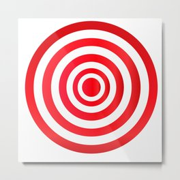 Target. Purpose. Red and white circles. Metal Print