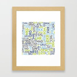 Airport Codes Framed Art Print