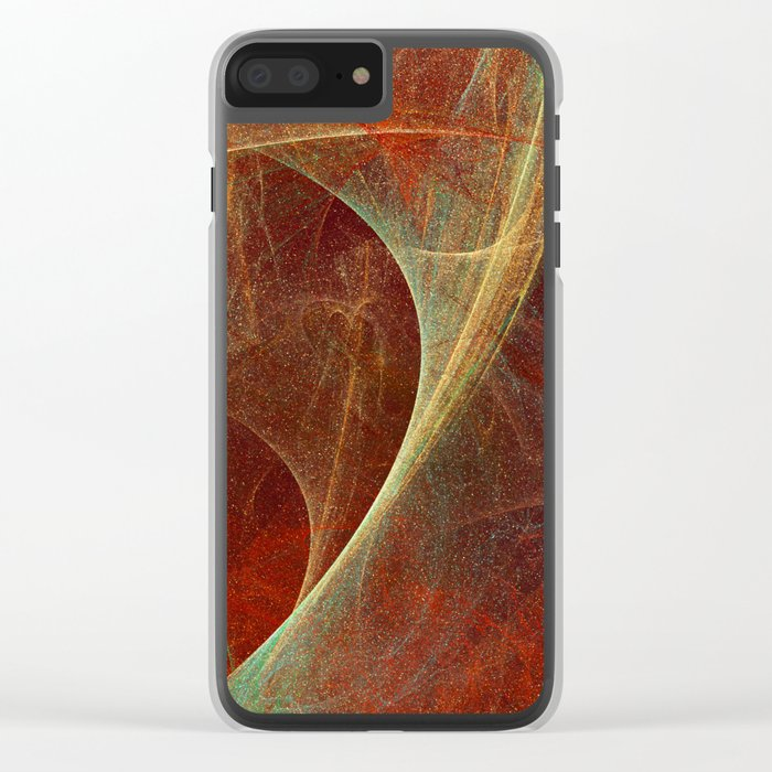 Abstract texture in autumn tones Clear iPhone Case