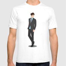 Going downtown #2 SMALL White Mens Fitted Tee