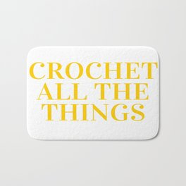 Crochet All The Things in Yellow Bath Mat