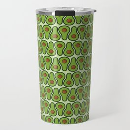 Avocado Doodle Pattern - Taco Series Travel Mug