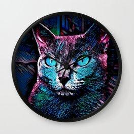 CAT COLORFUL Wall Clock
