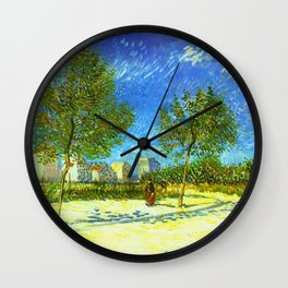 On the Outskirts of Paris by Vincent van Gogh Wall Clock