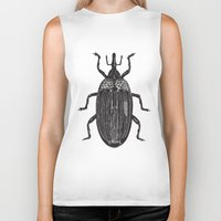 beetle Biker Tanks featuring Beetle by Najla