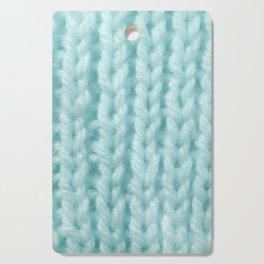 Sky Blue Wool Knitting Texture Cutting Board