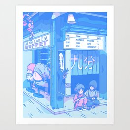Spirited Crossroad (revised) - 90s Anime Interpretation - 150k Special Art Print
