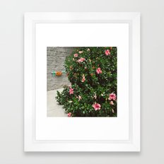 Pizza Floral Framed Art Print
