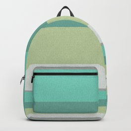 Turquoise olive striped Backpack