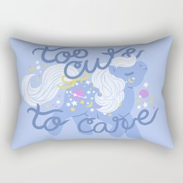 too cute to care Rectangular Pillow