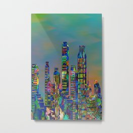 Graffiti City Metal Print