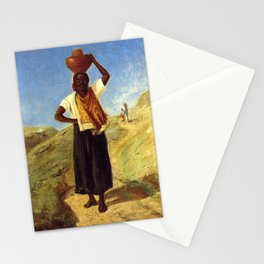 Woman Carrying a Pitcher on Her Head Stationery Cards