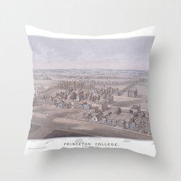 PRINCETON College map NEW JERSEY dorm decor graduate Throw Pillow