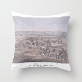 PRINCETON College map NEW JERSEY dorm decor graduate Throw Pillow